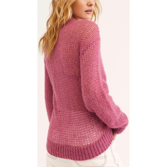 Free People Mauve Light & Lofty Alpaca Sweater